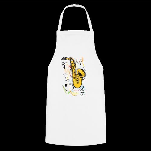 Damen-Shirt mit Saxophon - Kochschürze