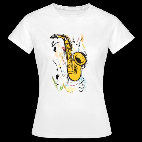 Damen-Shirt mit Saxophon - Frauen T-Shirt