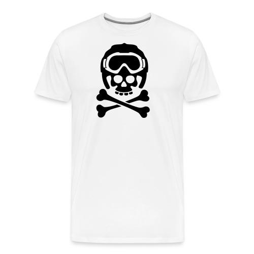 Totenkopf mit Skihelm und Skibrille - Männer Premium T-Shirt