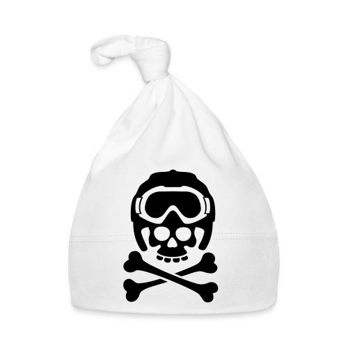 Totenkopf mit Skihelm und Skibrille - Baby Mütze