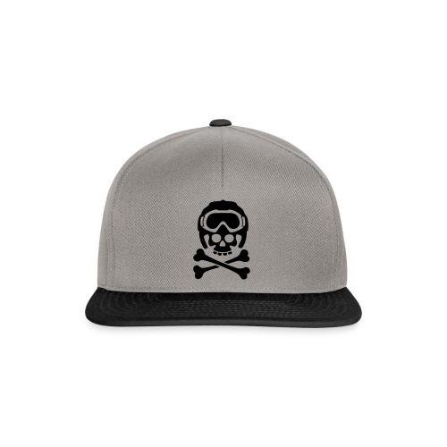 Totenkopf mit Skihelm und Skibrille - Snapback Cap