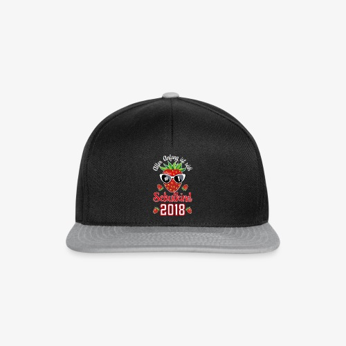 Schulkind 2018 Erdbeere Aller Anfang ist süß T-Shirts 02 - Snapback Cap