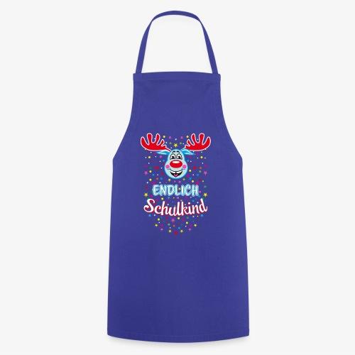 Endlich Schulkind Hirsch Rudi Blau T-Shirt 07 - Kochschürze