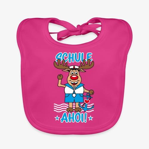 Schule Ahoi Hirsch Rudi Matrose Anker T-Shirt 09 - Baby Bio-Lätzchen