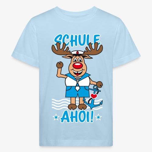 Schule Ahoi Hirsch Rudi Matrose Anker T-Shirt 09 - Kinder Bio-T-Shirt