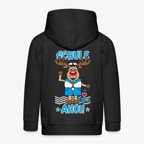 Schule Ahoi Hirsch Rudi Matrose Anker T-Shirt 09 - Kinder Premium Kapuzenjacke