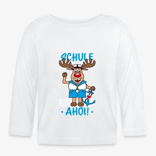 Schule Ahoi Hirsch Rudi Matrose Anker T-Shirt 09 - Baby Langarmshirt
