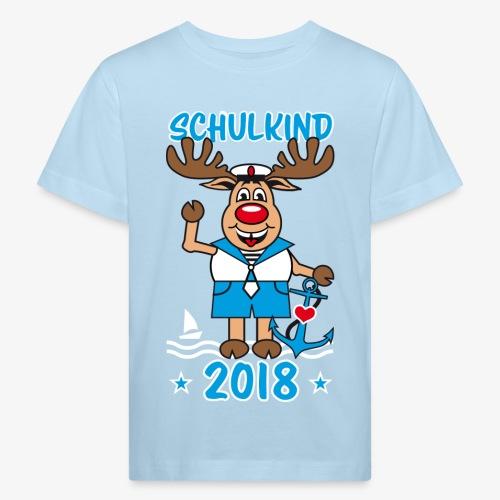 Schulkind 2018 Hirsch Rudi Matrose Anker T-Shirt 10 - Kinder Bio-T-Shirt