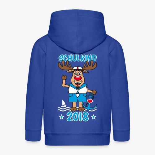 Schulkind 2018 Hirsch Rudi Matrose Anker T-Shirt 10 - Kinder Premium Kapuzenjacke