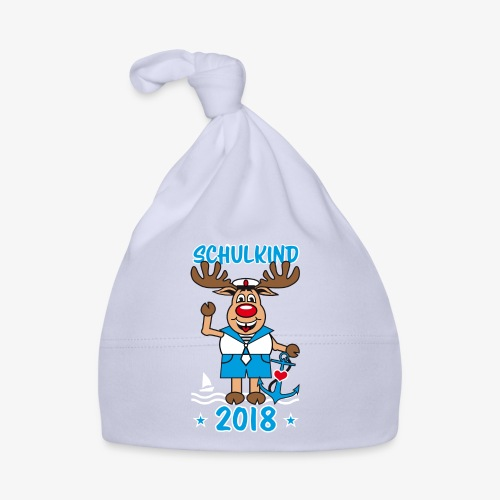 Schulkind 2018 Hirsch Rudi Matrose Anker T-Shirt 10 - Baby Mütze