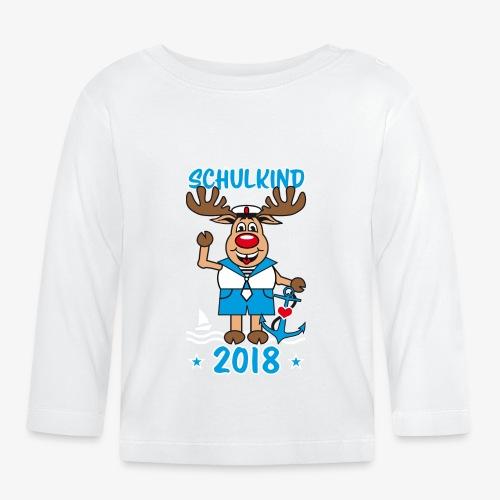 Schulkind 2018 Hirsch Rudi Matrose Anker T-Shirt 10 - Baby Langarmshirt