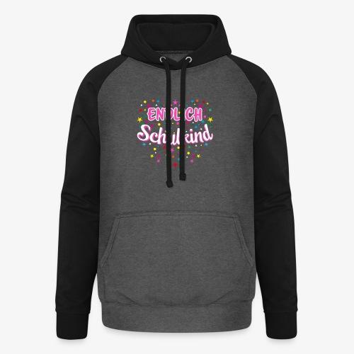 Endlich Schulkind pink Mädchen T-Shirt 14 - Unisex Baseball Hoodie