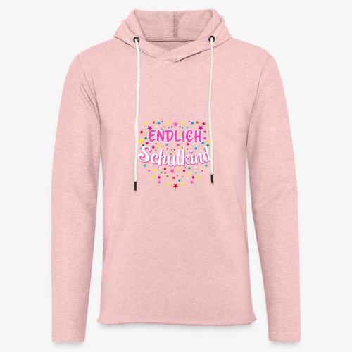 Endlich Schulkind pink Mädchen T-Shirt 14 - Leichtes Kapuzensweatshirt Unisex