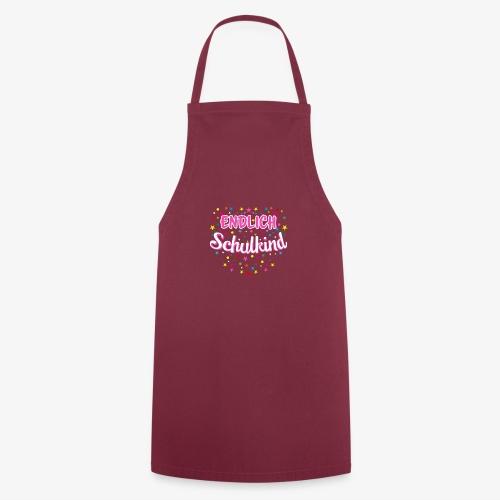 Endlich Schulkind pink Mädchen T-Shirt 14 - Kochschürze