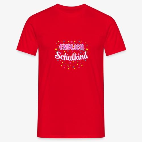 Endlich Schulkind pink Mädchen T-Shirt 14 - Männer T-Shirt