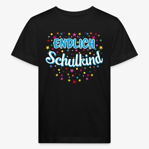 Endlich Schulkind blau Junge T-Shirt 15 - Kinder Bio-T-Shirt