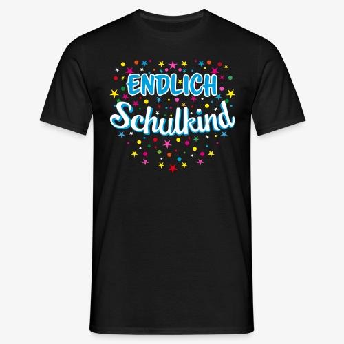 Endlich Schulkind blau Junge T-Shirt 15 - Männer T-Shirt