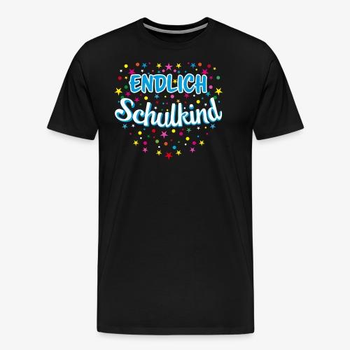 Endlich Schulkind blau Junge T-Shirt 15 - Männer Premium T-Shirt