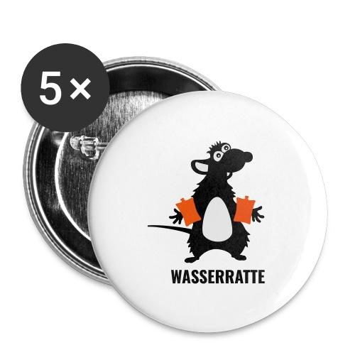 Wasserratte - Buttons mittel 32 mm