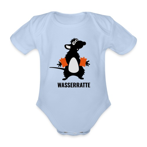 Wasserratte - Baby Bio-Kurzarm-Body