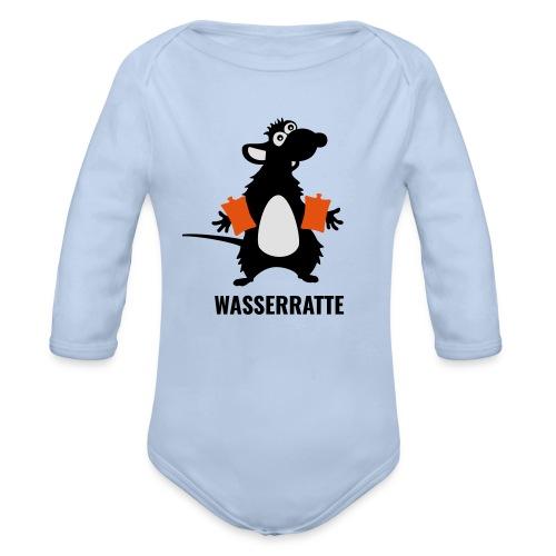 Wasserratte - Baby Bio-Langarm-Body