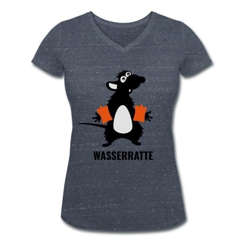 Wasserratte - Frauen Bio-T-Shirt mit V-Ausschnitt von Stanley & Stella