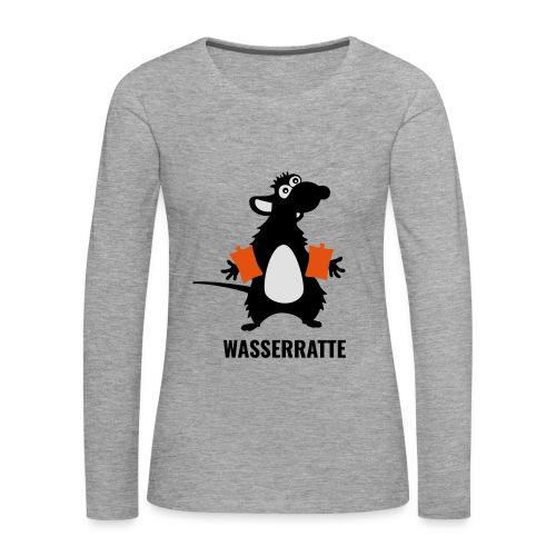 Wasserratte - Frauen Premium Langarmshirt