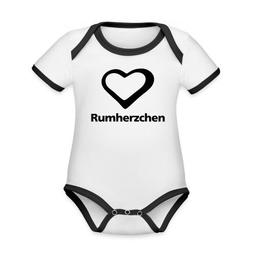 Rumherzchen - Baby Bio-Kurzarm-Kontrastbody