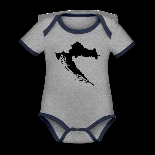 Kroatien Shirt - Baby Bio-Kurzarm-Kontrastbody