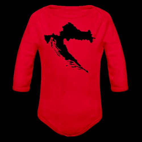 Kroatien Shirt - Baby Bio-Langarm-Body