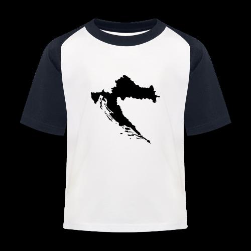 Kroatien Shirt - Kinder Baseball T-Shirt