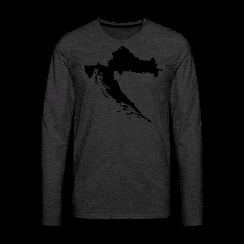Kroatien Shirt - Männer Premium Langarmshirt