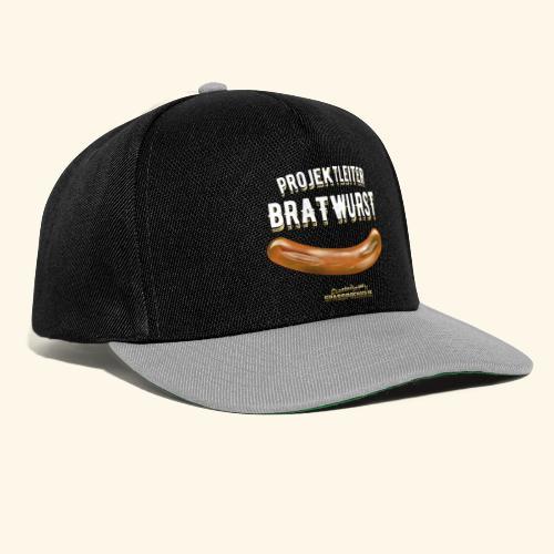 Geschenkidee: lustiges Grillshirt Projektleiter Bratwurst - Snapback Cap