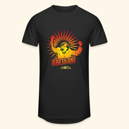 lustiges T-Shirt Party On - Männer Urban Longshirt