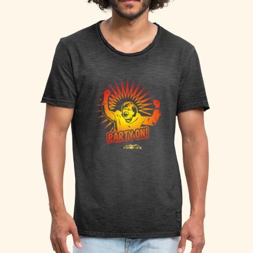 lustiges T-Shirt Party On - Männer Vintage T-Shirt