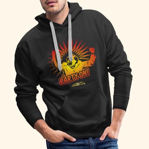 lustiges T-Shirt Party On - Männer Premium Hoodie