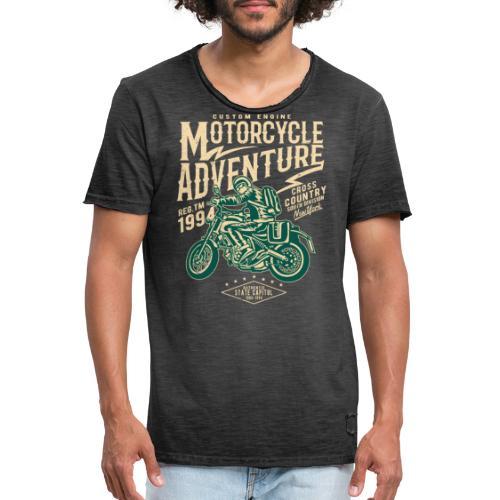 Aventura en moto - Camiseta vintage hombre
