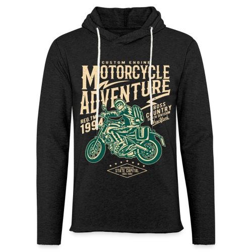 Aventura en moto - Sudadera ligera unisex con capucha