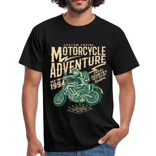 Aventura en moto - Camiseta hombre