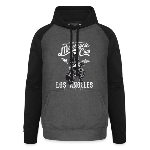 Motorcycle Club Los Angeles California - Sudadera con capucha de béisbol unisex