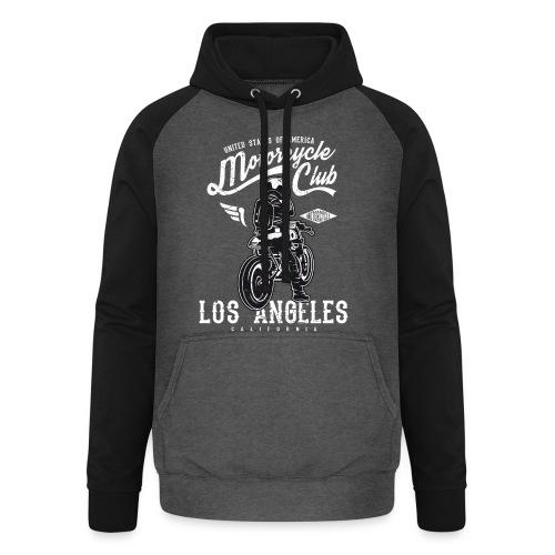 Motorcycle Club Los Angeles California - Sudadera con capucha de béisbol unisex
