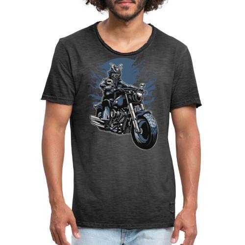 Motero Samurai - Camiseta vintage hombre