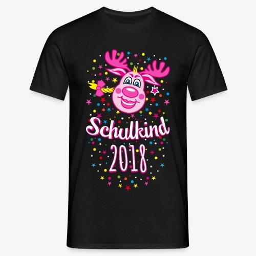 Schulkind 2018 Hirsch Rudi Pink Mädchen Glitzer 08 - Männer T-Shirt