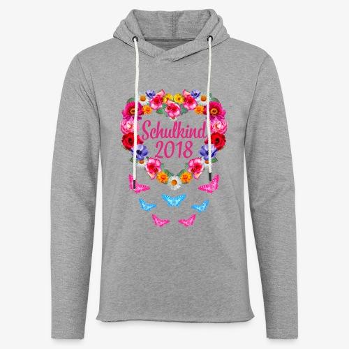 Schulkind 2018 Blumenkranz Schmetterlinge T-Shirt 16 - Leichtes Kapuzensweatshirt Unisex