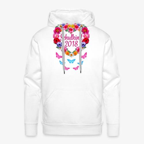 Schulkind 2018 Blumenkranz Schmetterlinge T-Shirt 16 - Männer Premium Hoodie