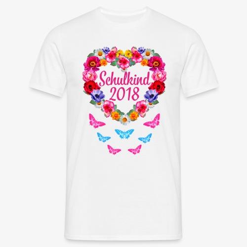 Schulkind 2018 Blumenkranz Schmetterlinge T-Shirt 16 - Männer T-Shirt