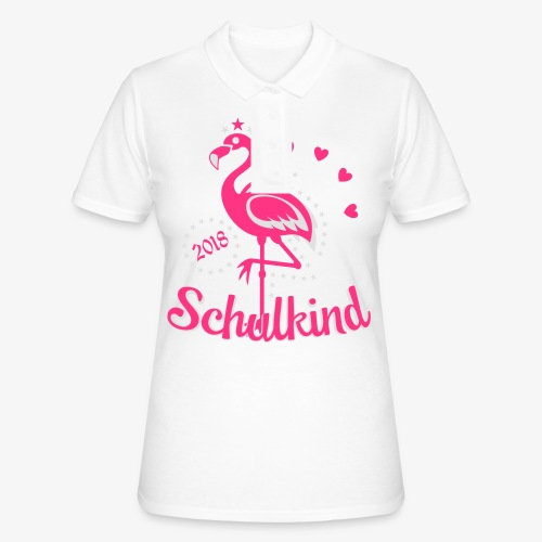 Schulkind 2018 Flamingo Sternchen Herzchen T-Shirt 17 - Frauen Polo Shirt