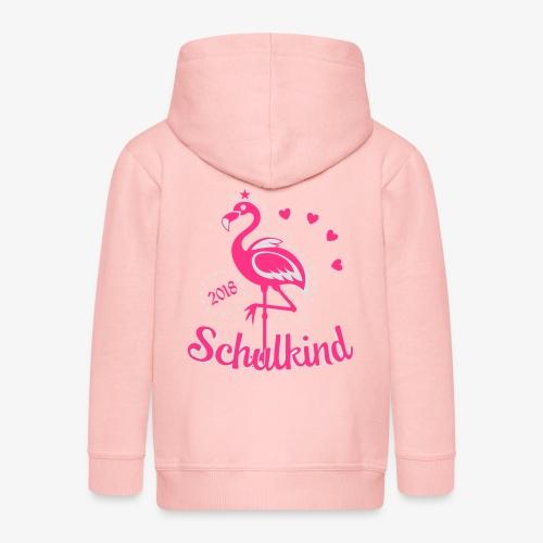 Schulkind 2018 Flamingo Sternchen Herzchen T-Shirt 17 - Kinder Premium Kapuzenjacke