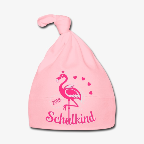 Schulkind 2018 Flamingo Sternchen Herzchen T-Shirt 17 - Baby Mütze