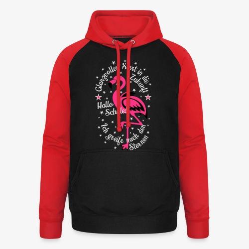 Flamingo Glanzvoller Start Zukunft Schulkind T-Shirt 18 - Unisex Baseball Hoodie